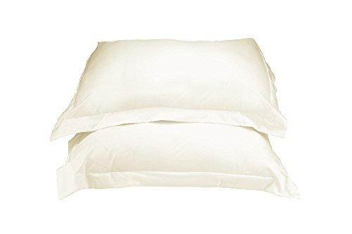 La Vie Moderne Premium 1800 Thread Count Microfiber Pillow Shams | Set of 2 | Queen(Standard)/Ivory