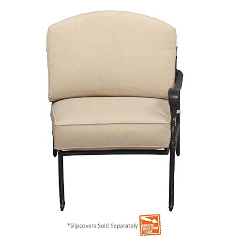 Edington Right Arm Patio Sectional Chair with Bare Cushion (Outdoor Pacific Bay Furniture)