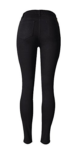 Ripped Holes Jeans 0110 Pants Fit Denim Angcoco Women's Destroyed Slim gPqBIwftn