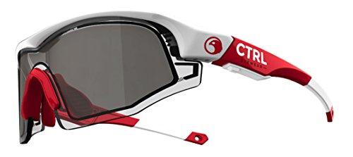 CTRL ONE Sports Eyewear White & Red / Smoke - Sunglasses Ballistic Prescription