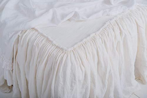 Frayed Linen bedspread Shabby Chic Shabby Chic Decor Ruffled Custom Bedspread King Bedspread Queen Bedspreads Linen bedding Linen Coverlet