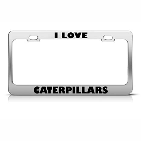Amazon.com: Fast Lane Signs I Love Caterpillars Caterpillar License ...
