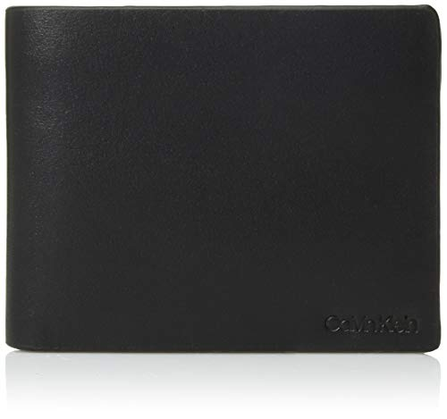 - Calvin Klein Men's Bifold with ID Window, black, One Size