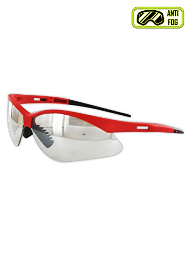 Magid Safety Y777RMIO Wraparound Safety Glasses | Hard Coated Lightweight Sporty Designed Safety Glasses with a Soft TPR Nose Pad and Temple Tips(1 Pair)