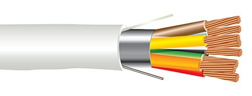 22 AWG 8/C Str CMP Plenum Rated Shielded Sound & Security Cable - 1000 Feet - EWCS Spec - Made in USA!