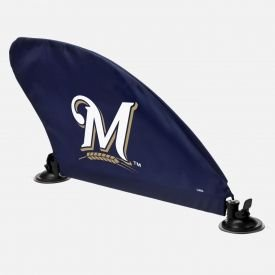 Forever Collectibles Milwaukee Brewers MLB Car Fin Team Logo Tailgate Auto Flag (Milwaukee Car Mlb Brewers)