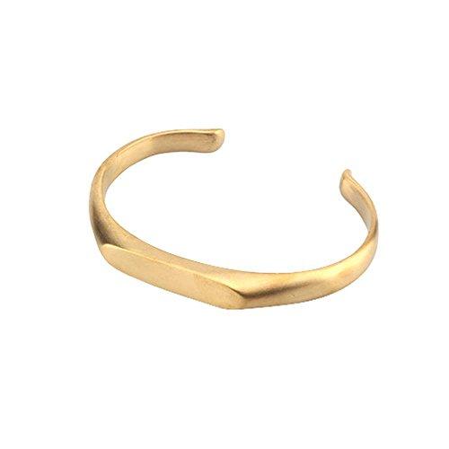 Osye Simple Cut Design Titanium Cuff Bracelet Wrist Band for Men - Titanium Band Thai