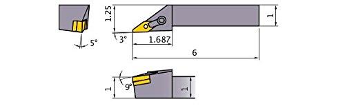 Sandvik CNC Lathe Insert Tool Holder MVJNL-16-3D