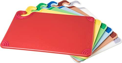 San Jamar CBG1218KC 6 Piece Saf-T-Grip Co-Polymer Board System Set with Color Coding Chart, 18