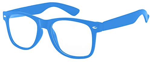 Kids Clear Lens Colored Glasses Protect Child's Eyes from UVB UVA (Blue Light, PC ()