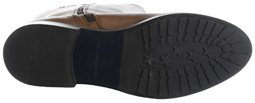 Boot Riding Stivali 606 Tommy Marrone Cognac TH Donna Leather Alti Basic Hilfiger 7qw7tnxPSI