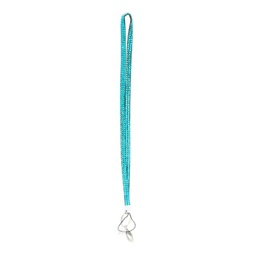 - Teal Blue Crystal Rhinestone Lanyard Badge Holder