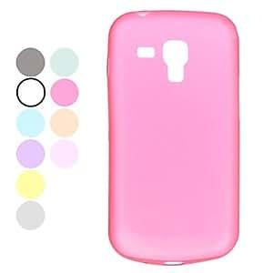 Bkjhkjy Durable Plastic Samsung Mobile Phone Back Covers for S7562(10 Colors) , White