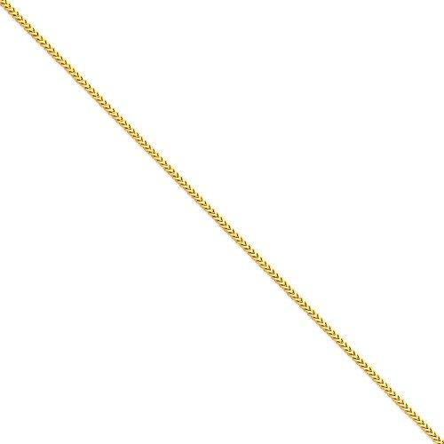 "14 carats 2 mm-Bracelet chaine Franco - 8 ""- Fermoirs-Mousquetons JewelryWeb"