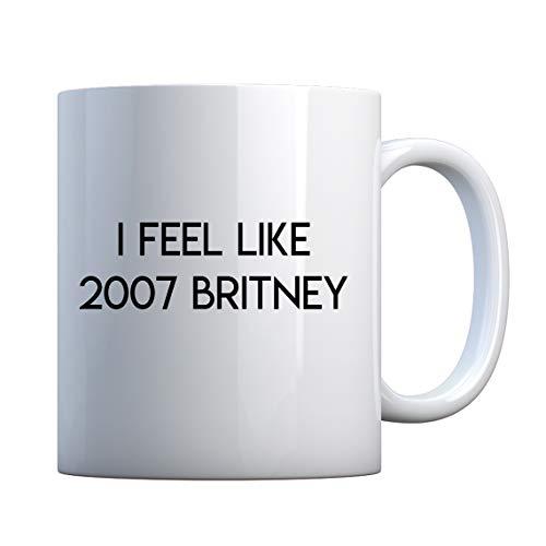Mug 2007 Britney 11oz Pearl White Gift Mug ()