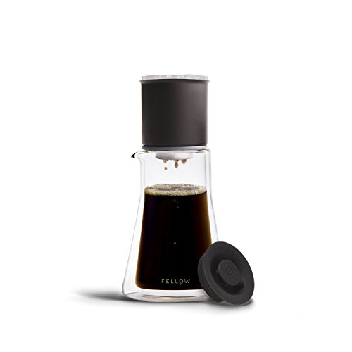 Fellow Stagg [XF] Pour-Over Brewing Set for Coffee (includes Stagg [XF] Pour-Over Dripper with Ratio Aid, Stagg Double Wall Glass Carafe, and 20 paper filters)