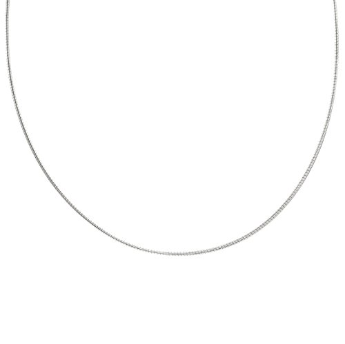 Women's Sterling Silver 3 Colors Omega Choker Necklace (Silver) (How To Make A Halo Costume)