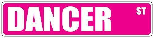 "Aluminum Metal Street Sign Streets Dancer Pink Decorative Address Sign 18""x4"""