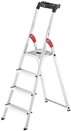 Hailo L60 Easyclix - Escalera de tijera (aluminio, 4 peldaños): Amazon.es: Bricolaje y herramientas