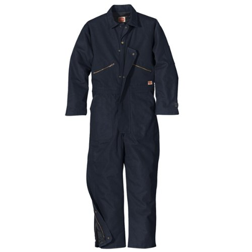 Red Kap Men's Insulated Blended Duck Coverall, Navy Duck, 5X-Large
