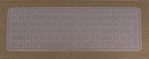 Saco Silicone Rubber Chiclet Protector Keyboard Skin for Dell G3 Gaming Laptop   15.6   Transparent