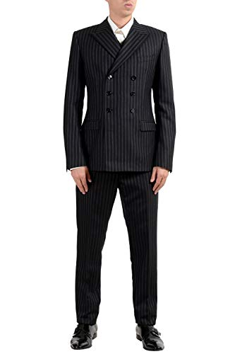 Dolce & Gabbana Men's 100% Wool Striped Three Piece Suit US 38 IT 48 ()