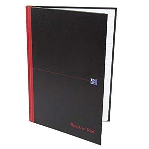 Oxford 400047606 Black N 'Red Cuaderno 5 unidades A4, rayado, con Hard Cover y marcapáginas 192 hojas negro/rojo
