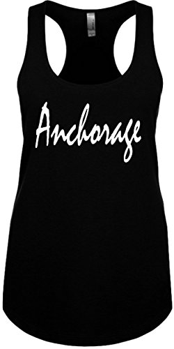Junior's Funny Tank Top Size 2X (ANCHORAGE) Ladies Novelty Womans - Shopping Anchorage