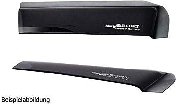 Farbausf/ührung: schwarz 03-3915 Set mit Parkscheibe ClimAir Windabweiser vorne mit ABE
