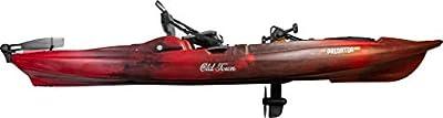 Old Town Canoes & Kayaks Predator Pedal Fishing Kayak with Rudder (Black Cherry, 13 Feet 2 Inches)