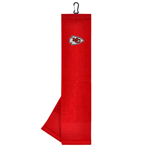Kansas City Chiefs Golf Towel - Team Effort NFL Kansas City Chiefs Face/Club Tri-Fold Embroidered Towel