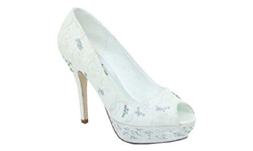 Chaussure ceremonie femme, HORTENSE de CRINOLIGNE, mariage, fiancailles, toutes ceremonies Blanc