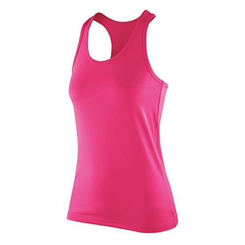 Spiro - Camiseta de tirantes elástica Softex para mujer Blanco