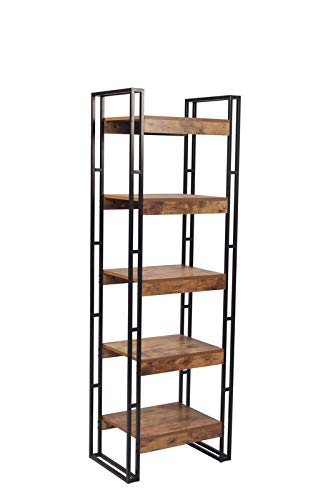 Amazon Com Mik Steel Frame Bookcase Bookcase With 5 Wood