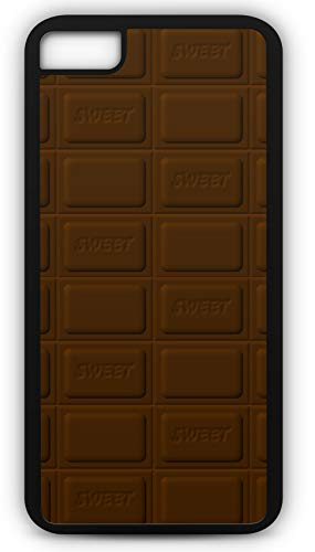 iPhone 8 Case Chocolate Bar of Dark Chocolate Sweet Candy Customizable by TYD Designs in Black Rubber -