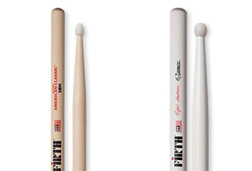 Vic Firth American Classic 5B Nylon Tip Drumsticks with Vic Firth Corpsmaster Signature Snare - Ralph Hardimon Nylon Tip