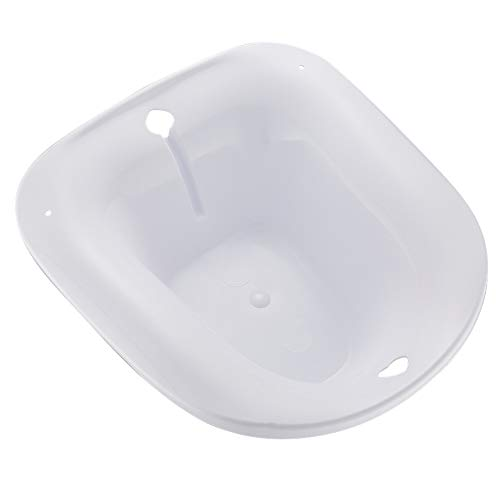 Sitz Baths Portable Bidet, Fits on Toilet, Smooth Contoured Plastic,Avoid Squatting for Pregnant Women, Hemorrhoids Patients on The Toilet