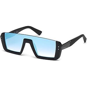 Sunglasses Diesel DL 0248 01X shiny black / blu mirror