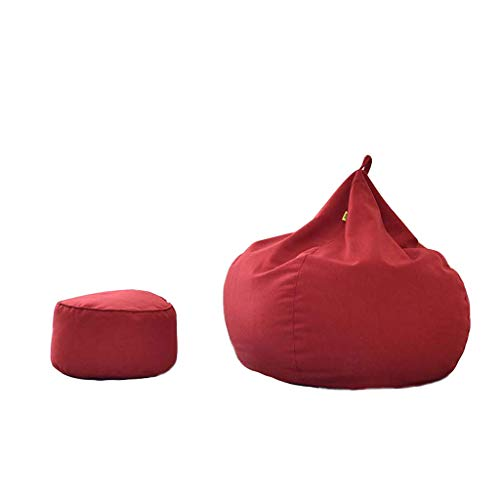 Lazy Sofa Soft & Snugly Designer Chair Gaming Bean Bag Indoor Outdoor Garden Floor Cushion Bean Bags(Water Resistant) Bean Bags (Color : Red) from Tengxiang