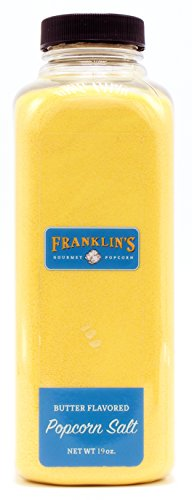 Butter Flavored Popcorn Salt by Franklin's Gourmet Popcorn. Extra Large 19 oz Bottle. ()