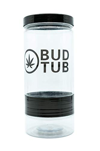 Bud Tub Air tight stash jar/storage container and shake separator for medical marijuana, cannabis, pot, weed and any other herbs