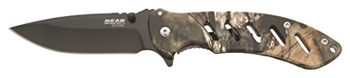 Bear Edge 71510 Brisk 1.0 Blade Frame Lock Folder, Mossy Oak Country Camo, 4 1/16″