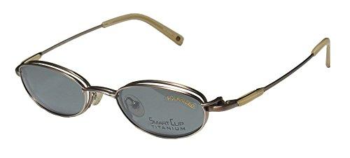 SmartClip 515t Mens/Womens Designer Full-rim Titanium Sunglass Lens Clip-Ons Eyeglasses/Eyewear (49-20-140, Satin - Sunglasses Who Doctor