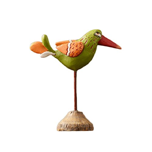HGXC WY Resin Wrought Iron Sculpture, Nordic Style Statue Furniture Art Bird Statue Crafts Living Room Office Art by HGXC