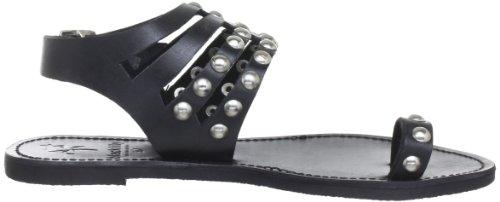 Black Lily cool sandal - Sandalias de cuero mujer negro - negro