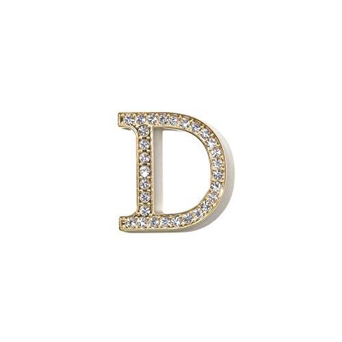 - Sonix Crystal Embellished Metal Alphabet Letter Sticker - Clear (D)