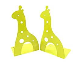 Kids Fun Giraffe Non-Skid Metal Bookends 6 5/8\