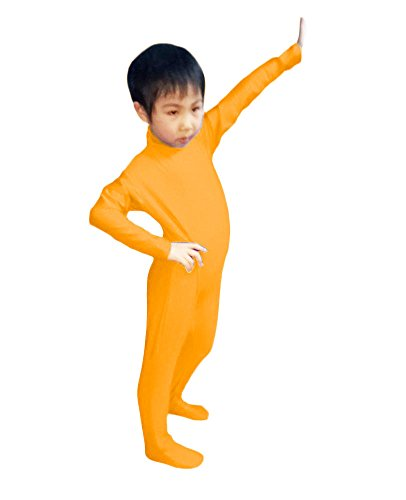 Dancewear Unitard (WOLF UNITARD Kids Lycra Spandex Bodysuit Dancewear Medium Orange)