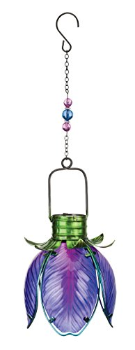 Regal Art & Gift 11460 Solar Flower Lantern-Purple Iris Lighting, Blue