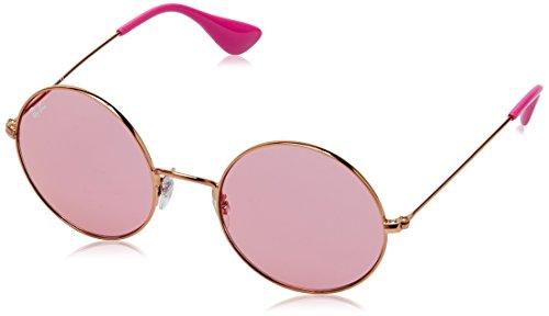 Ray-Ban Women's Ja-Jo Non-Polarized Iridium Round Sunglasses, Shiny Copper, 50 - Ja Ban Ray Jo